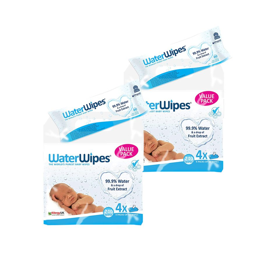 WaterWipes Baba Törlőkendő Super Value Pack (8 csomag)