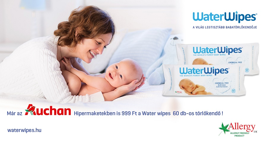 WaterWipes Természetes Törlőkendő az AUCHANban