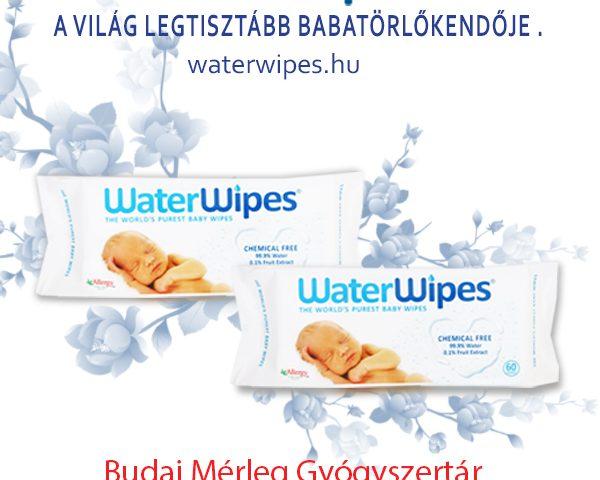 WaterWipes Törlőkendők A Budai Mérleg Gyógyszertárban