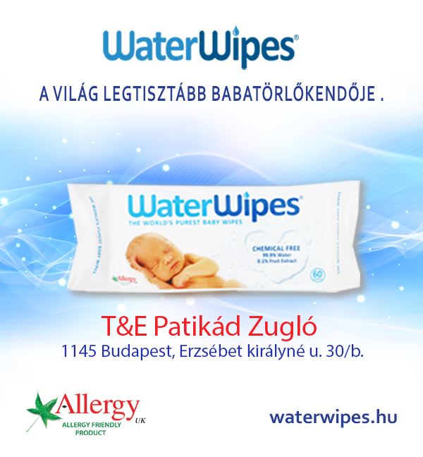 WaterWipes Törlőkendő A T&E Patikádban Zuglóban