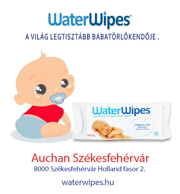 WaterWipes Bébi Törlőkendő Székesfehérváron az Auchanban