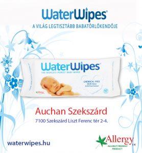 WaterWipes Bébi Törlőkendő Szekszárdon az Auchanban