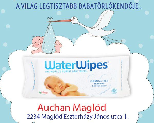 WaterWipes Természetes Törlőkendők Maglódon az Auchanban
