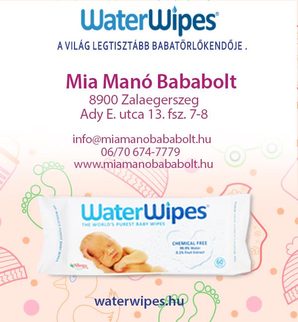 WaterWipes Természetes Törlőkendő Zalaegerszegen a Mia Manó Bababoltban