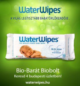 WaterWipes Törlőkendők a Bio-Barát Biobolt Kínálatában