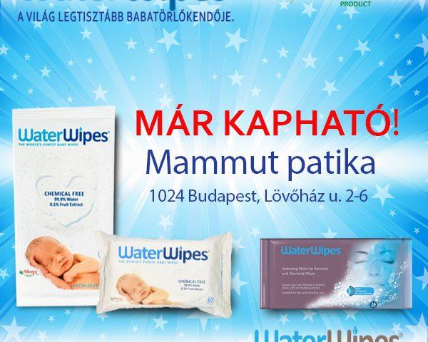 WaterWipes a Mammut Patikában Budapesten