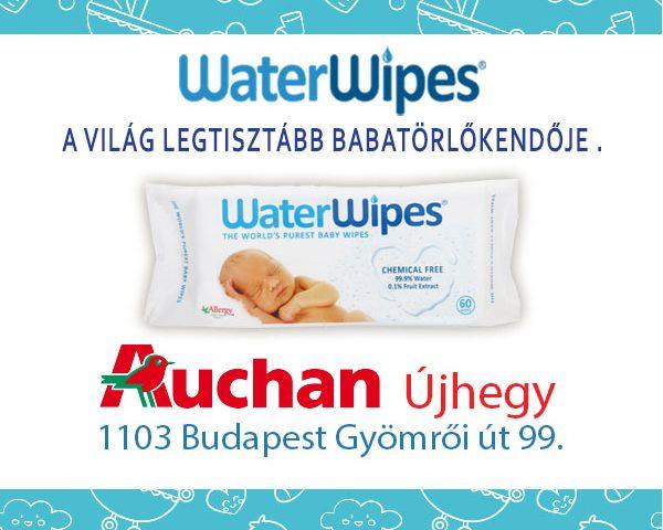 WaterWipes Auchan Újhegy Bevásárlóközpontban