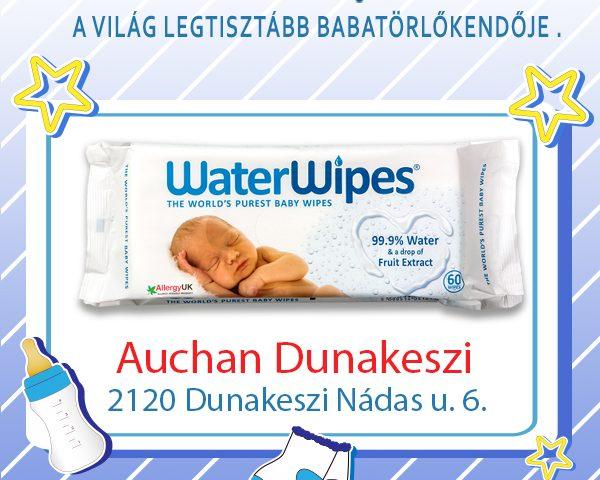 WaterWipes Babatörlőkendő Dunakeszin az Auchanban