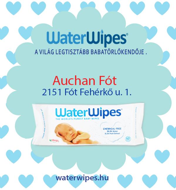 WaterWipes Fóton az Auchan Hipermarketben