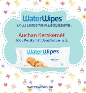 WaterWipes Kecskeméten az Auchan Bevásárlóközpontban