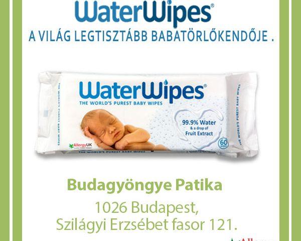 WaterWipes Törlőkendők a Budagyöngye Patikában