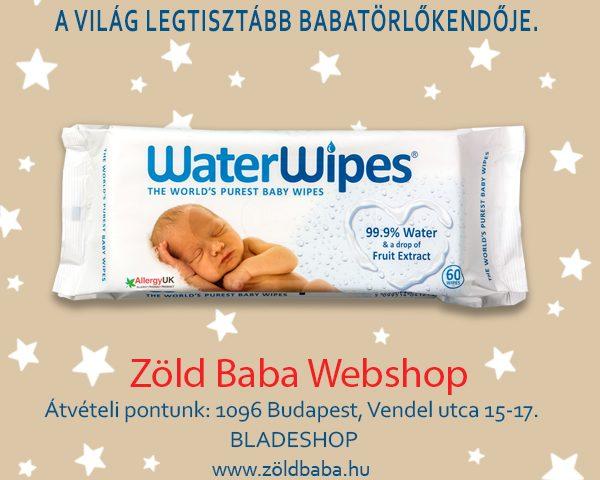 WaterWipes Törlőkendők a Zöldbaba.hu Webáruházban
