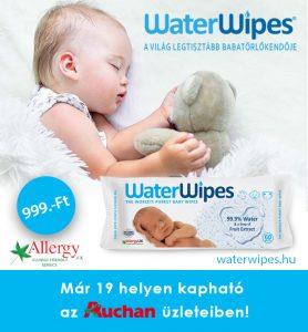 WaterWipes Babatörlőkendő Auchanban Országszerte
