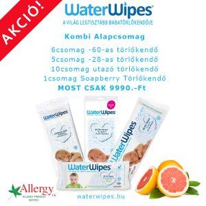 WaterWipes Természetes Törlőkendő Kombi Csomag (Szappanbogyóval)