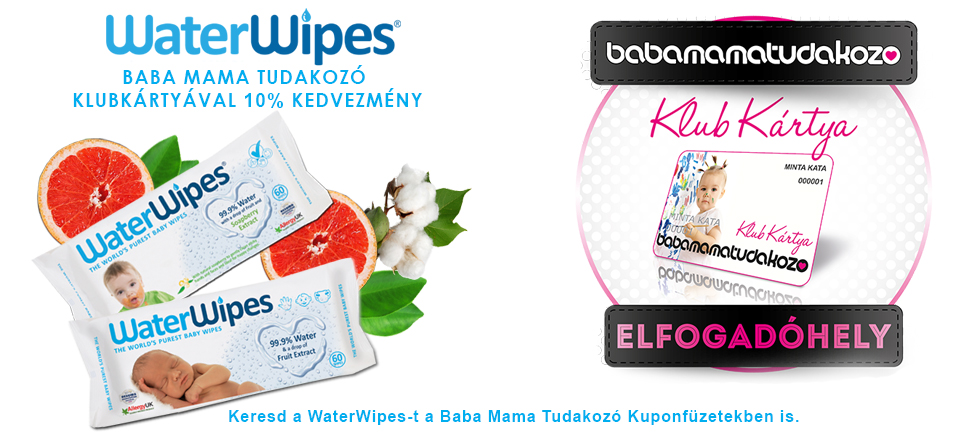 Baba Mama Tudakozó Partner A WaterWipes Slider